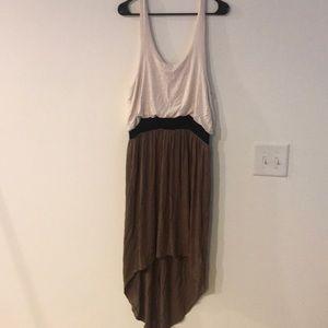 Cream / Brown High Low Dress - NWOT